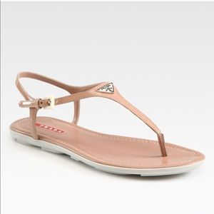Prada Leather T-Strap Sandal 9